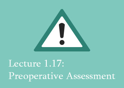 1.17 Preoperative Assessment of Spinal Patients