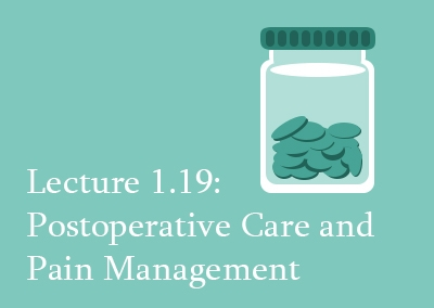 1.19 Postoperative Care and Pain Management