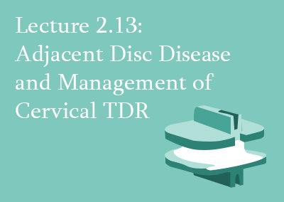 2.13 Adjacent Disc Disease and Management of Cervical TDR