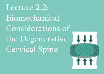 2.2 Biomechanical Considerations of the Degenerative Cervical Spine