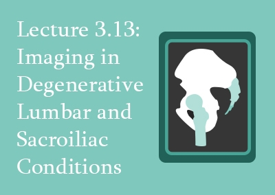 3.13 Imaging in Degenerative Lumbar and Sacroiliac Conditions