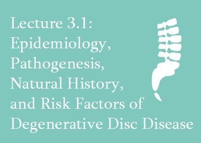 3.1 Epidemiology of Degenerative Disc Disease