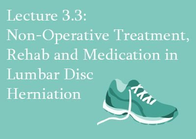 3.3 Non-operative Treatment of Lumbar Disc Herniation