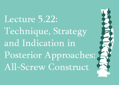 5.22 Technique, Strategy and Indication in Posterior Approaches: All-Screw Construct