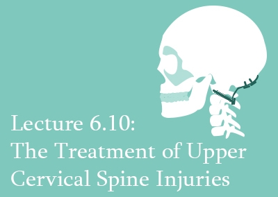 6.10 The Treatment of Upper Cervical Spine Injuries