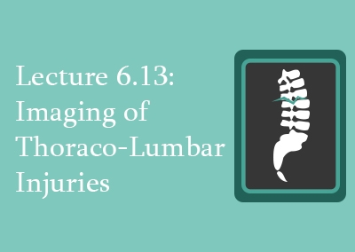 6.13 Imaging of Thoraco-Lumbar Injuries