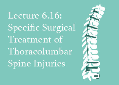 6.16 Specific Surgical Treatment of Thoracolumbar Spine Injuries