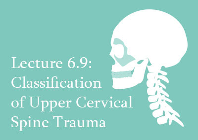 6.9 Classification of Upper Cervical Spine Trauma