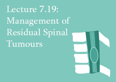 7.19 Management of Residual Spinal Tumours