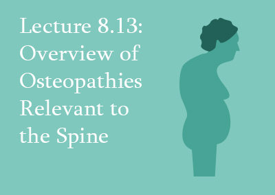 8.13 Overview of Osteopathies Relevant to the Spine
