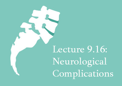 9.16 Neurological Complications