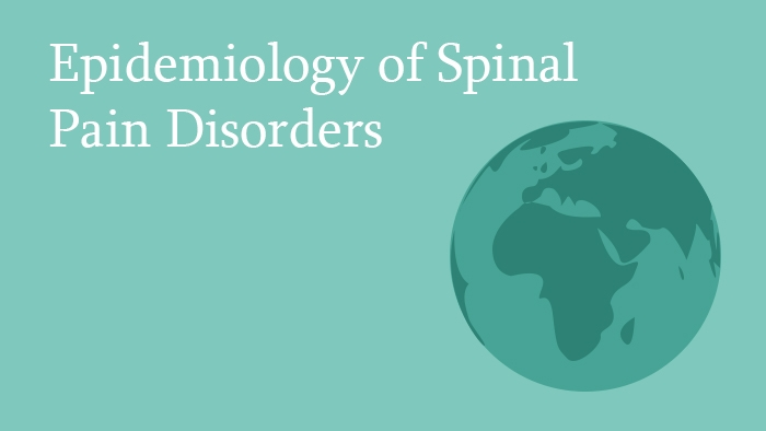 Epidemiology of Spinal Pain Disorders - Spine Surgery Lecture - Thumbnail