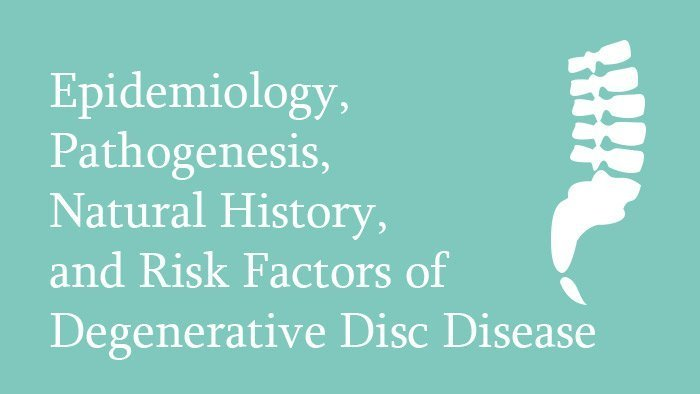 Epidemiology of Degenerative Disc Disease - Spine Surgery Lecture - Thumbnail