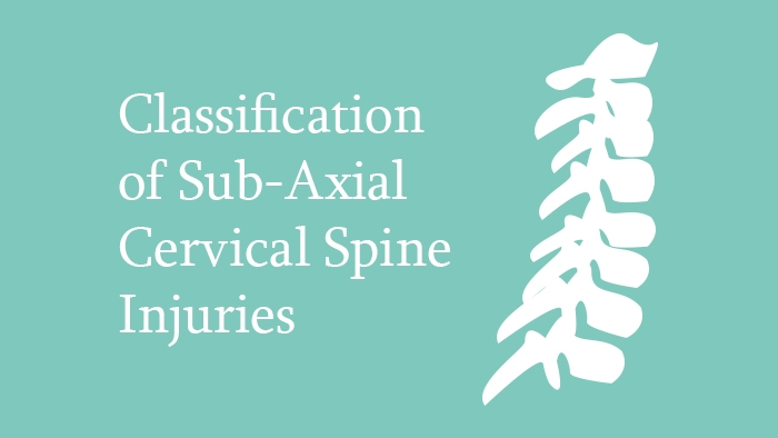 Classification of subaxial cervical spine injuries lecture thumbnail
